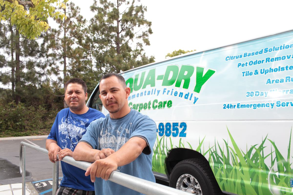 Aqua-Dry is ready to clean your carpet, floors and upholstery today!