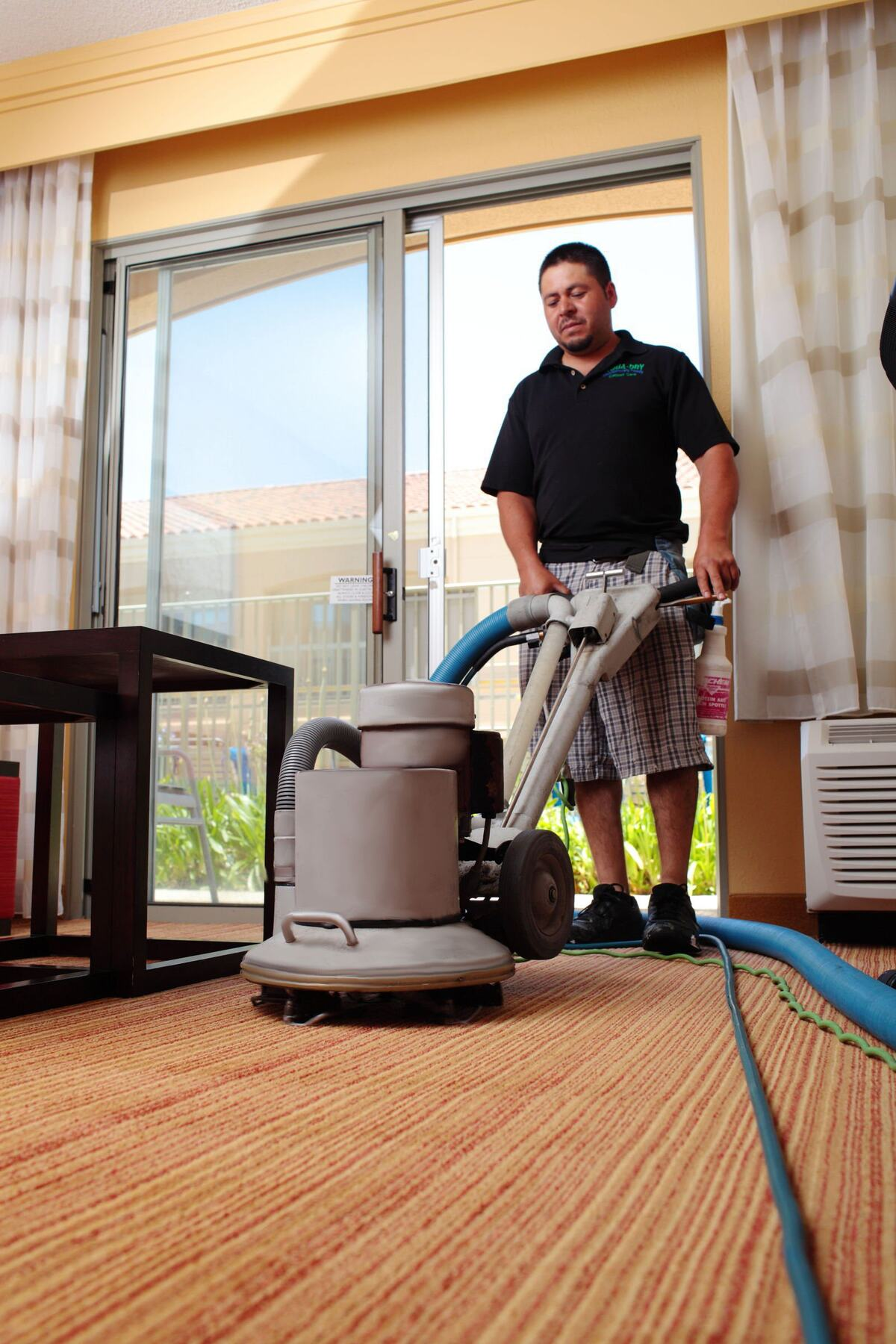 Professional Carpet Cleaning, Hotel Room