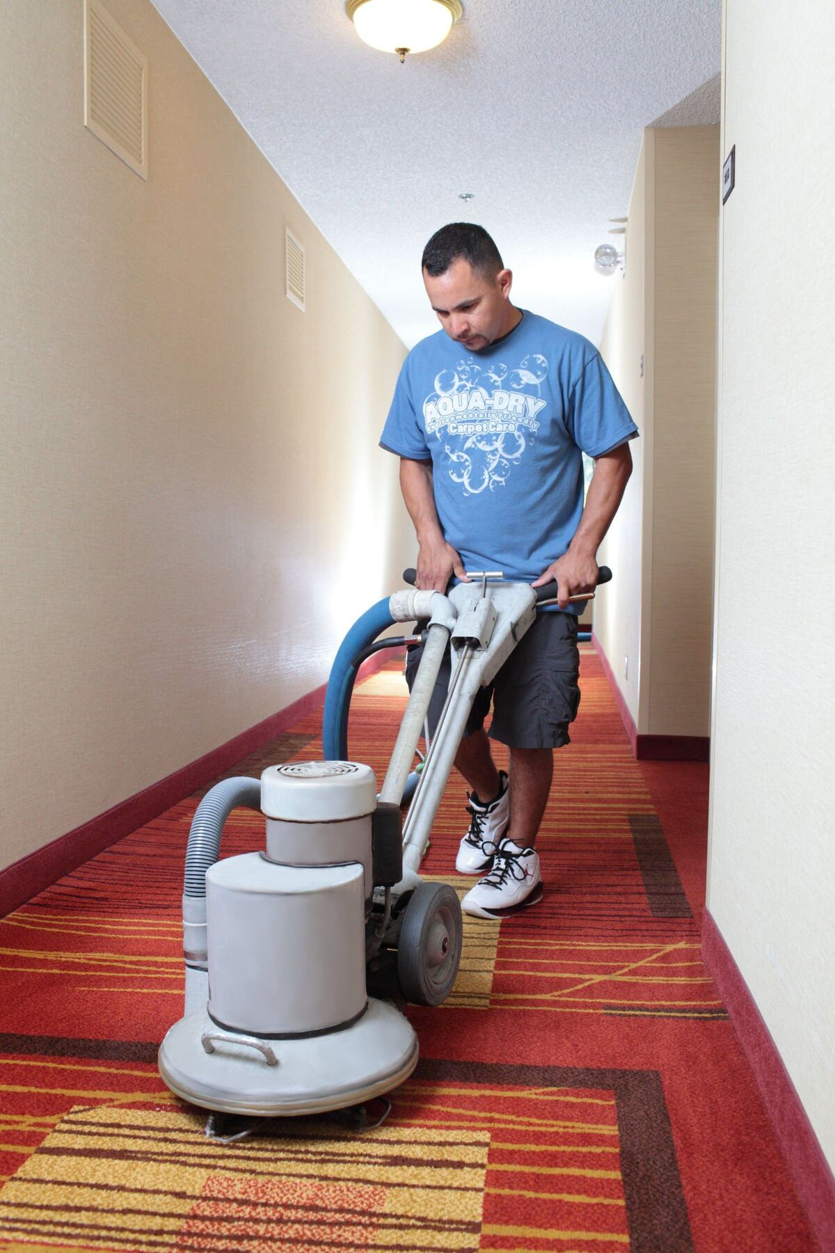 We provide commercial carpet cleaning for hotels, office buildings, etc.