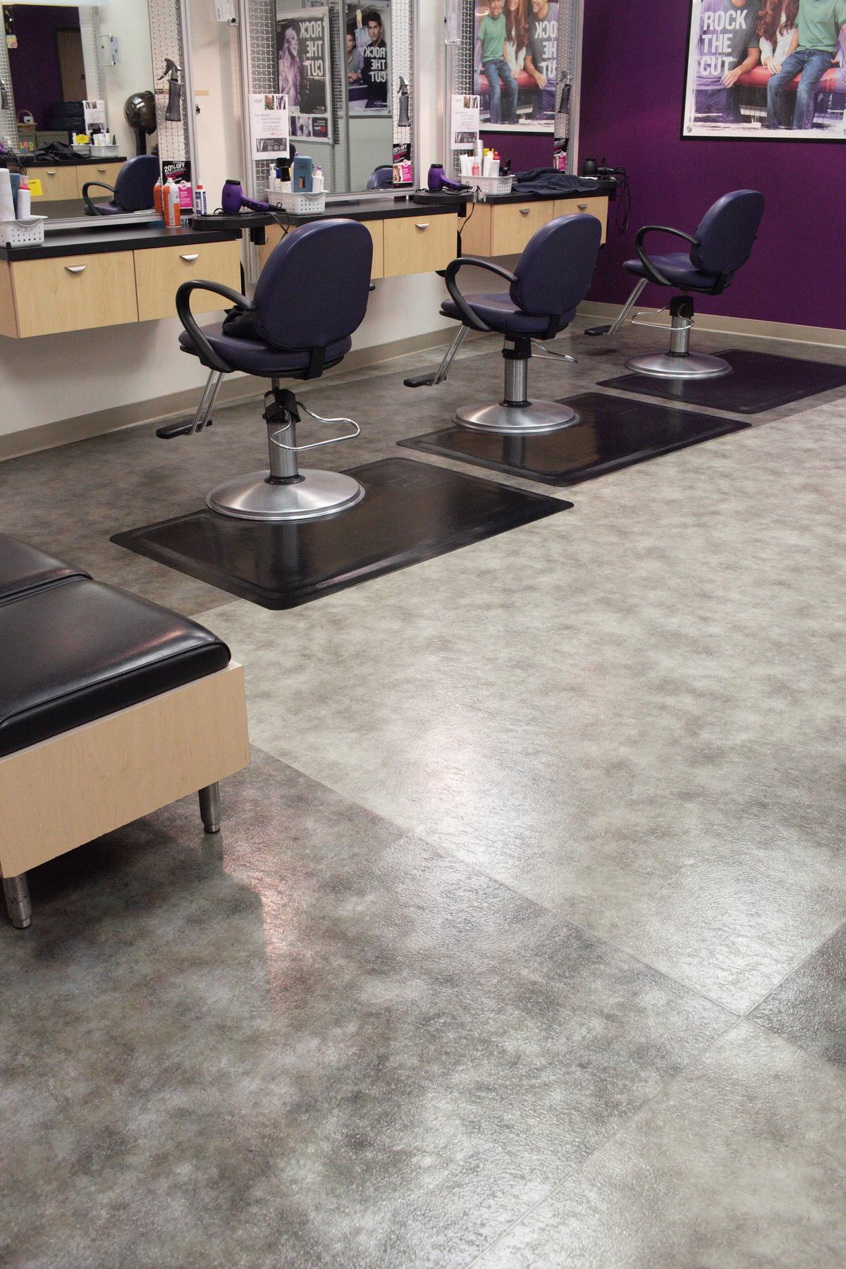 Barber shop in Oxnard, CA after completed tile cleaning